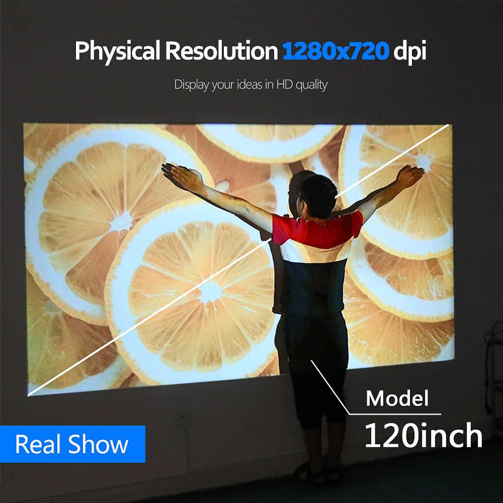 AUN mejor LED Proyector portátil D60/S   Full HD 1080p   Android WiFi Mini Proyector Bluetooth   Bluetooth 3D Video película de cine en casa