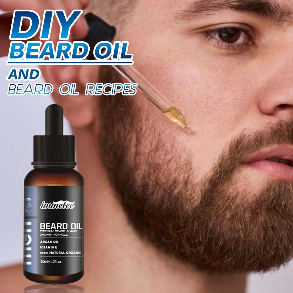 Natural Organic Beard Oil Hair Loss Products Beard Care Essential Oil And Beard Growth Oil Men Beard Nourishing Enhancer
