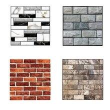 Autocollants muraux Imitation brique 3D, 10 pièces, papier peint auto-adhésif étanche amovible, décor de salon cuisine, décalcomanies d'art