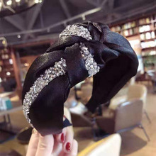 2019 Fashion Headband Womens Hairband Hair Accessories High Quality Shining Rhinestone Patchwork Headwear Wholesale