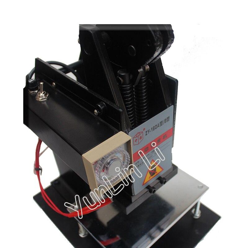 150*100mm Manuelle Heißer Stanzen Maschine 220V Leder Präge LOGO Branding Maschine Heißer Mark Maschine Bronzing Maschine ZY-160B