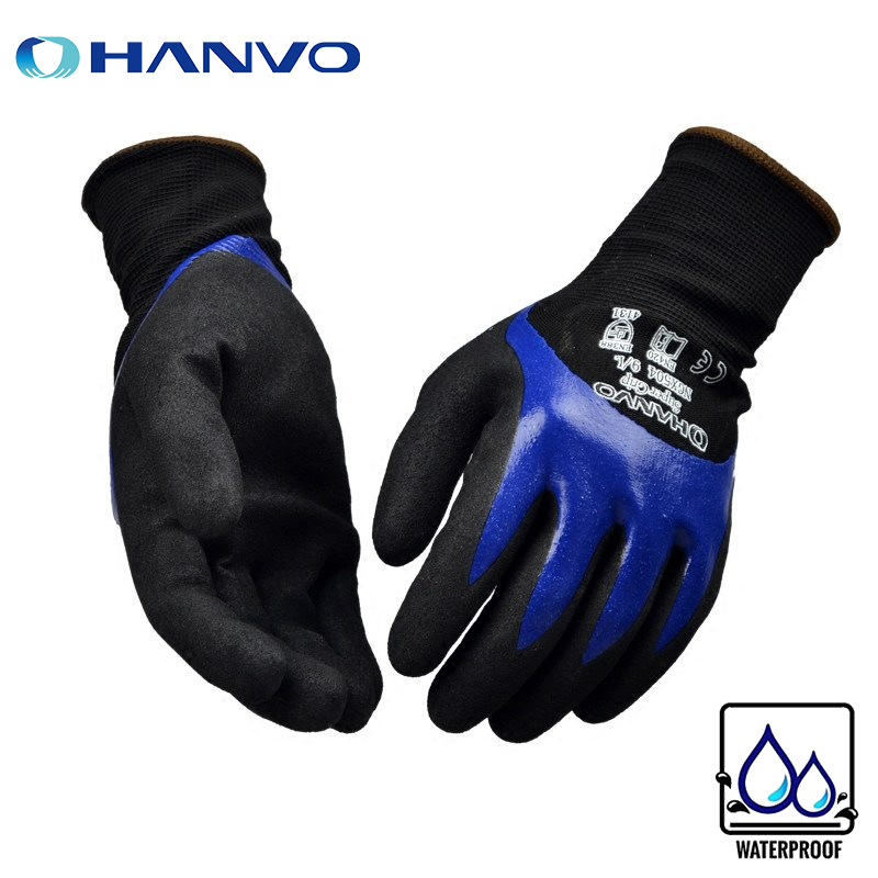 Nylon Frosted Nitrile Coating 15 Gauge Protective Safety Work Protective Gloves