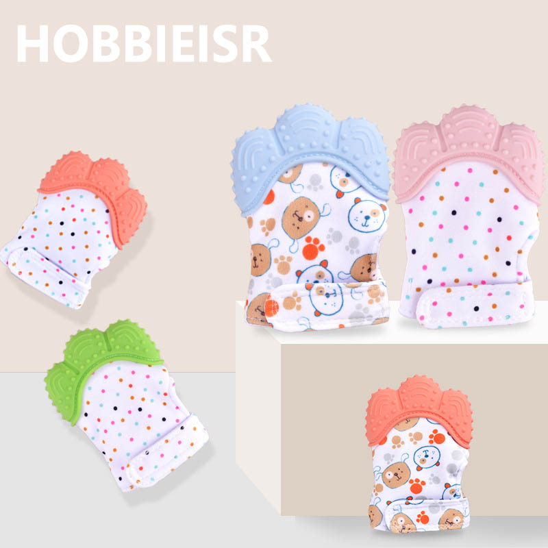 Baby Teether Baby Anti-bite Silicone Molar Gloves Children's Sound Toys Maternal And Child Supplies Protection Fingers