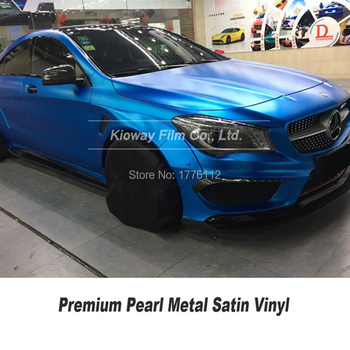 Highest qualitymatte metallic persian blue vinyl wrap deep blue matte metallic vinyl with air release channels for High-end car