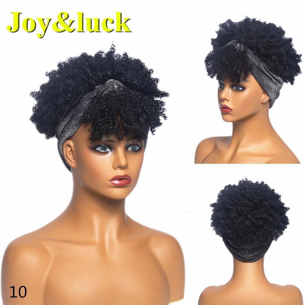 sintético cabeça envoltório peruca