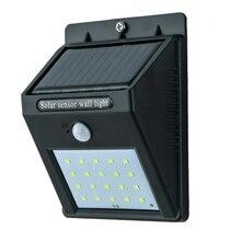 Светильник лампа с датчиком движения и солнечной батареей уличный дачный Solar Powered Led Wall Light lamp