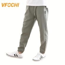 VFOCHI New 4-16T Boys Pencil Pants Summer Autumn Thin Kids Trousers Teenage Clothing Mid Elastic Waist Solid Color Boy Pants цена и фото