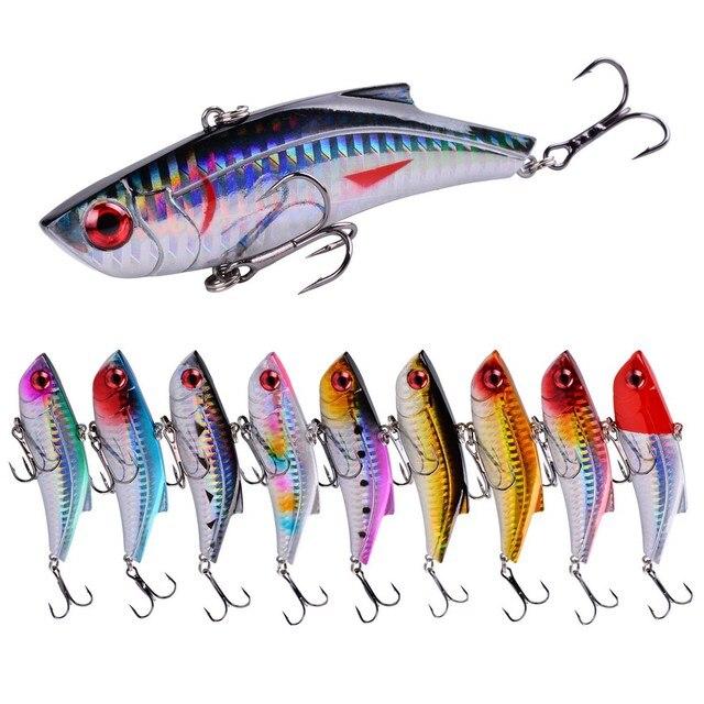 10 個冬魚vib餌海フックレーザー塗装釣りルアー鯉餌isca人工パラペスカクランクベイト 8.9 センチメートル/28 グラム