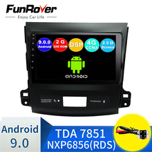 FUNROVER 2.5D + IPS radio coche 2G + 32G Android 9,0 4G coche Radio reproductor Multimedia navegación GPS para Mitsubishi Outlander xl 2 2005 -2011 2din centro multimedia android no DVD