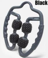 Black - U-shaped trigger point massage roller