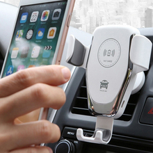 10W Qi Wireless Car Charger for iPhone 11 Pro XS Samsung S10 S20 Gravity Fully Automatic Bracket Fast Charging Car Stand Holder