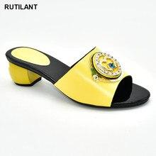 รองเท้าสตรีฤดูร้อนรองเท้าแตะคุณภาพดีอิตาเลี่ยนผู้หญิงงานแต่งงานรองเท้ารองเท้าตกแต่งด้วย Rhinestone ทุกวันรองเท้าแตะสำหรับสุภาพสตรีรองเท้า