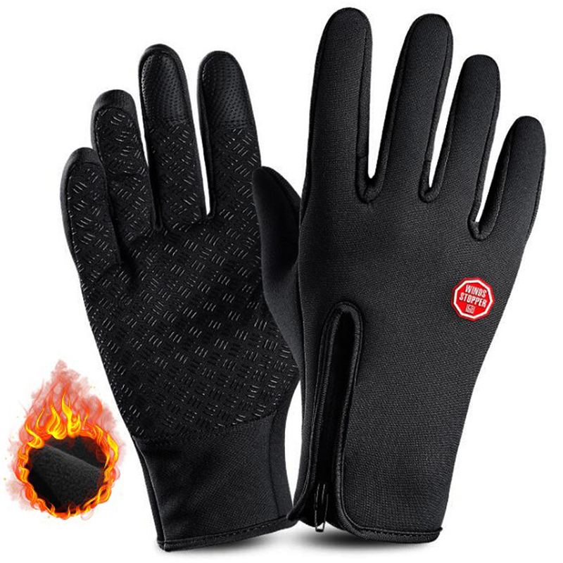 Winter Ski Gloves Warm Waterproof Cycling Gloves Snowboard Motorcycle Bicycle Gloves Winter Touch Screen Snow Windproof Gloves