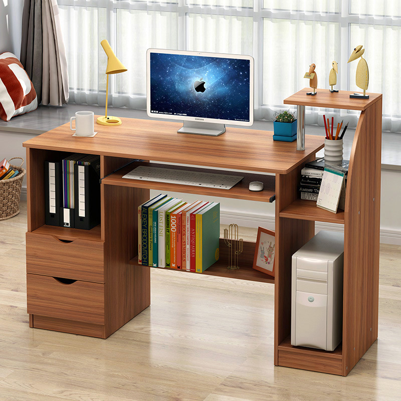 Man Patriarch Desk Computer Desktop Table Simple Household Computer Do Table Desk Bookshelf Combination Table