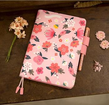 The Blooming Flowers Diary A5 A6 Fitted Journal Planner Undated Monthly Weekly Daily Plan 207P image
