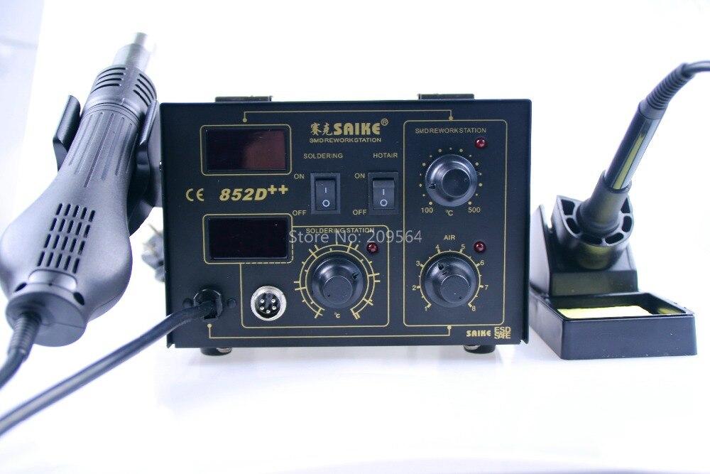 SAIKE 852D + + fer à souder pistolet à Air chaud 2 en 1 Station de reprise 220V 110V amélioré fron tête de fer bouche de vent - 2