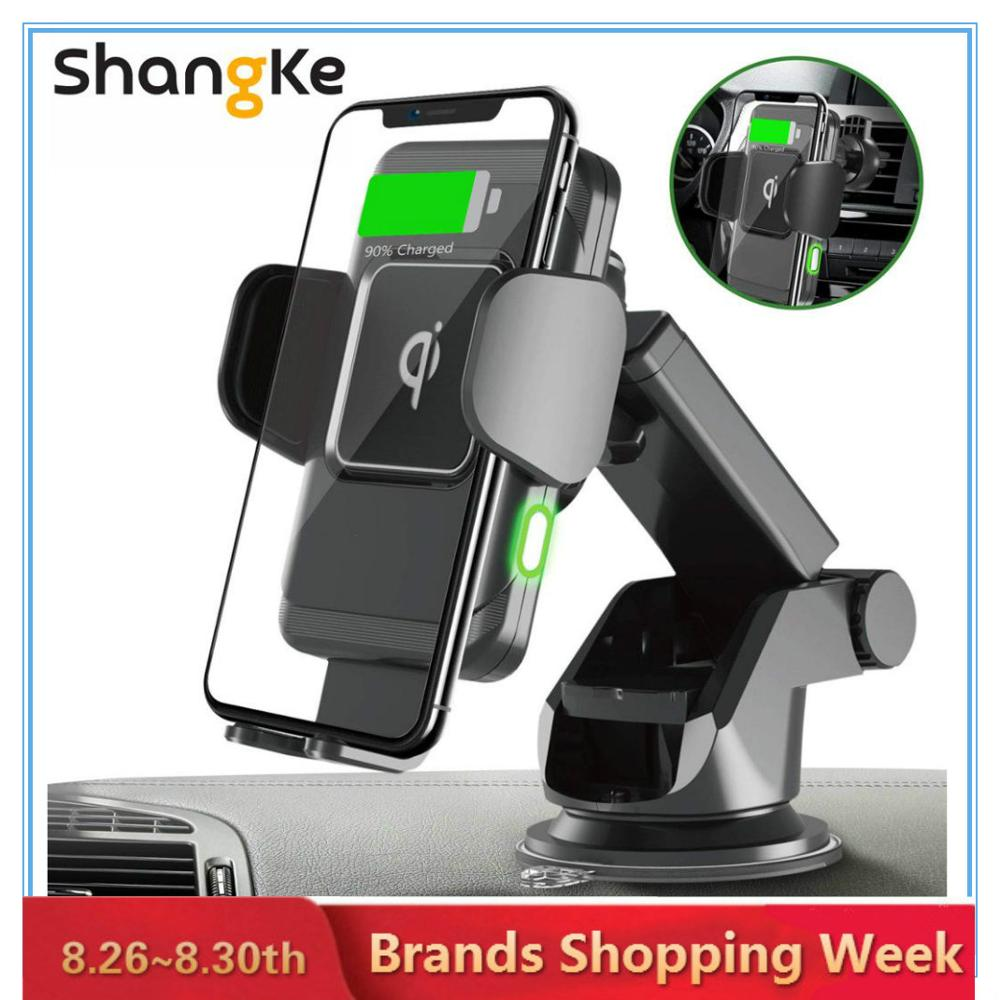 Phone-Holder Car-Charger Car-Mount Wireless Qi Samsung 10W Auto-Clamp 2-In-1 for X 8