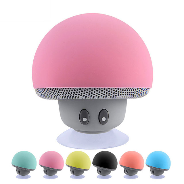 Mini Bluetooth Speaker Waterproof Mushroom Wireless Music HiFi Stereo Subwoofer Hands Free For Phone Android IOS