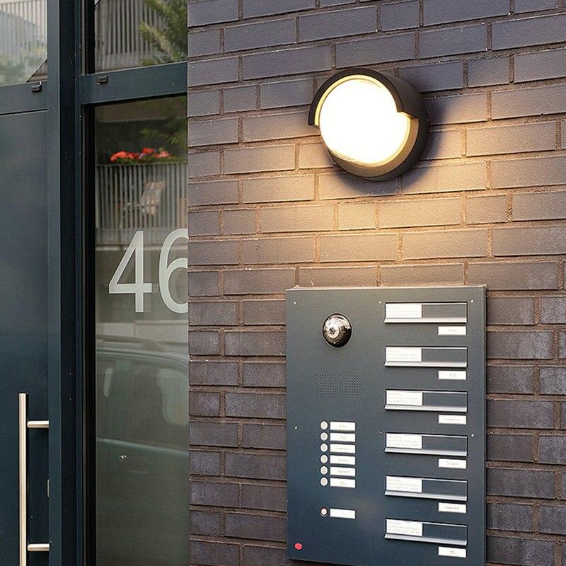 parede ip65 arandelas metal preto branco varanda corredor retro luzes 04