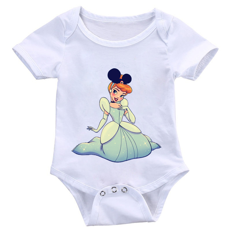 DERMSPE New Fashion Newborn Baby Cartoon Print Toddler Jumpsuit Boys Girls Soft Romper Breathable Short Sleeve One-Piece Suits