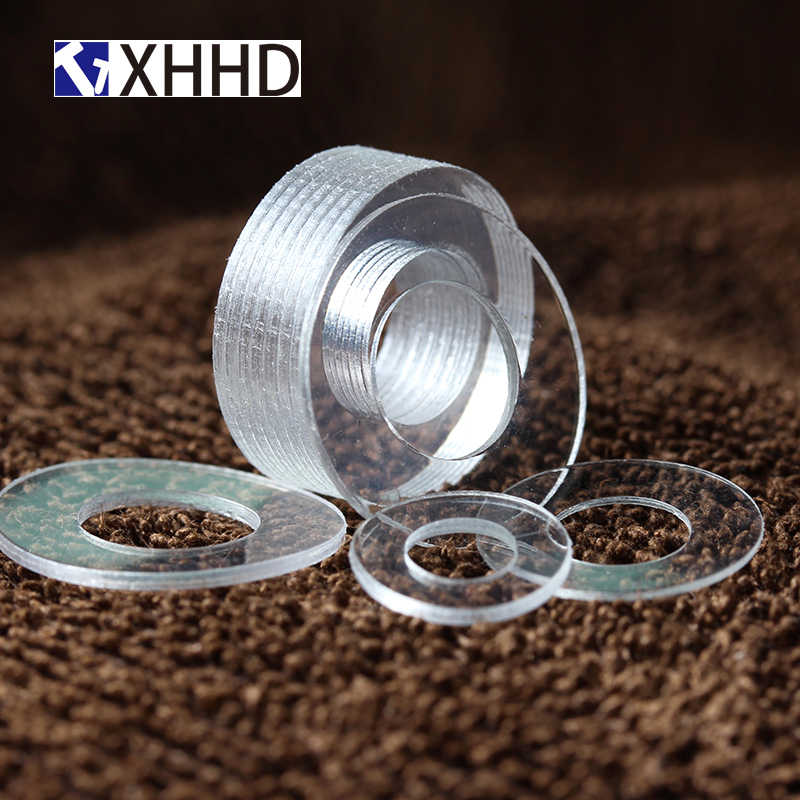 XIONGHAIZI Soft PVC Plastic Clear Washer M2 M2.5 M3 M4 M5 M6 M8 M10 Thin 0,5 1mm Shock-Proof and Leak-Proof Gasket Insulation Screws Color : 12 x20 x1