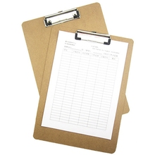 Writing-Board Batterfly-Clip A4 with for Office School Stationery-Supplies Specific Wooden