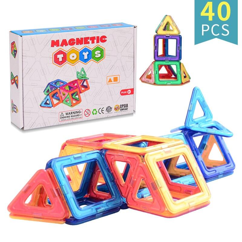 40pcs Magnetic DIY building blocks parts construction toys for toddlers Designer magnetic toys Magnet model building toys