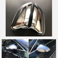 For A4 B8/B8.5/B9 Side Wing Mirror Covers caps Silver Matte Chrome fit for Audi A4 A4L facelift 2009 2018