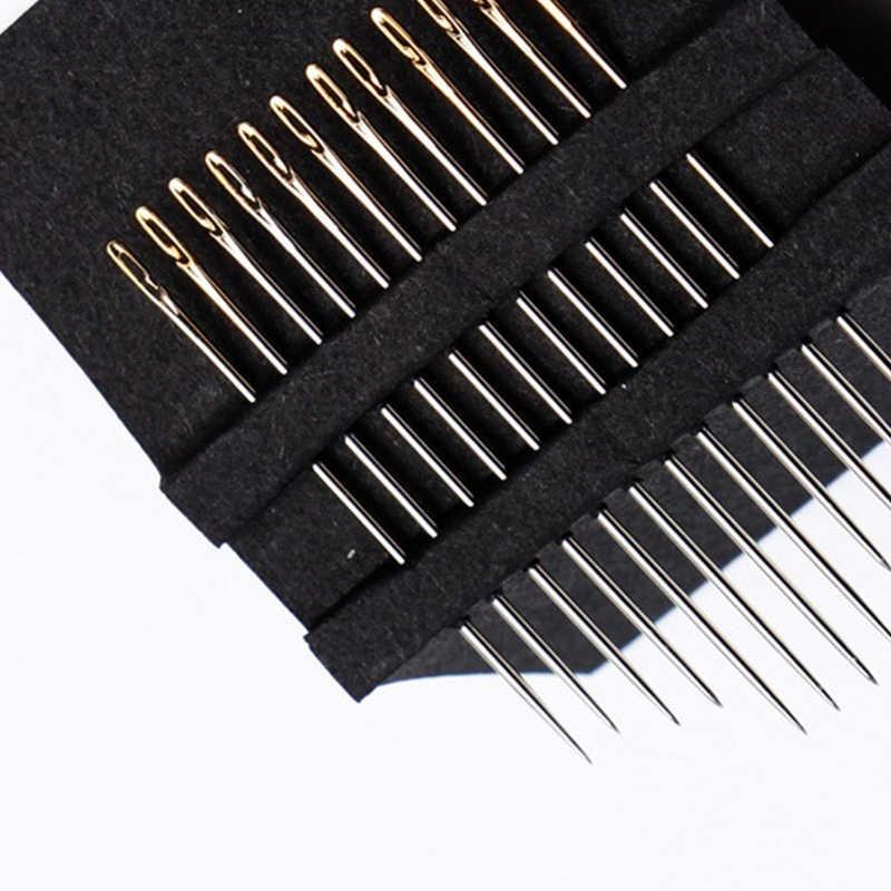 Aiguilles à repriser en acier inoxydable multi-taille aiguille aveugle 12 PCS/Lot populaire ouverture latérale bricolage aiguille à coudre de haute qualité