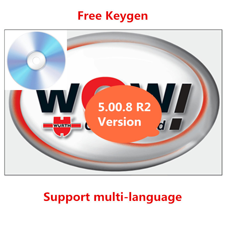 Горячая Распродажа для WOW Вюрт V 5.00.8 R2 multi-язык с Бесплатная Keygen для Tcs Pro белобочка DS150E Multidiag автомобили