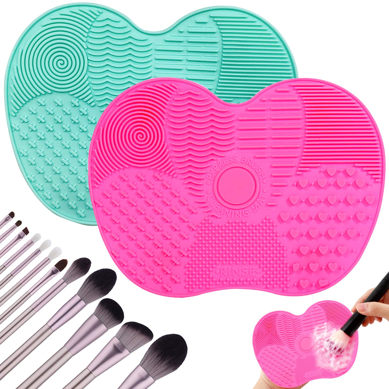 Silicone Makeup Brush Cleaner Cosmetic Foundation Makeup Brush Scrubber Board Gel Cleaning Mat Hand Tool Dropshipping