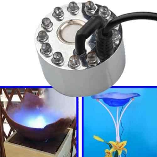 ミストメーカー 12 led ミスター噴霧器噴水池フォグマシン、ミニサイズハロウィンや他の休日の装飾