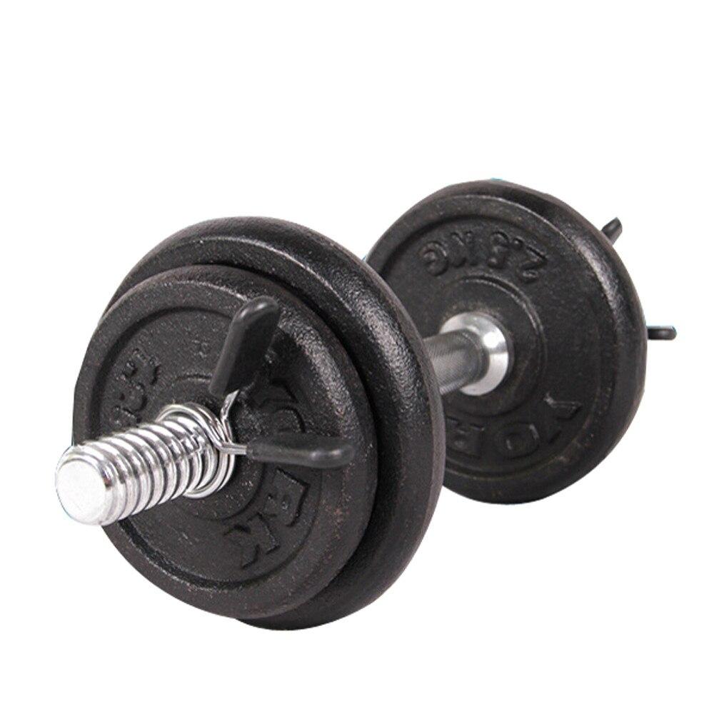 Peso Ginásio Bar Dumbbell Barbell Lock Braçadeira Clipes Collar Uso Indoor Trainning Aptidão 2Pcs 25mm
