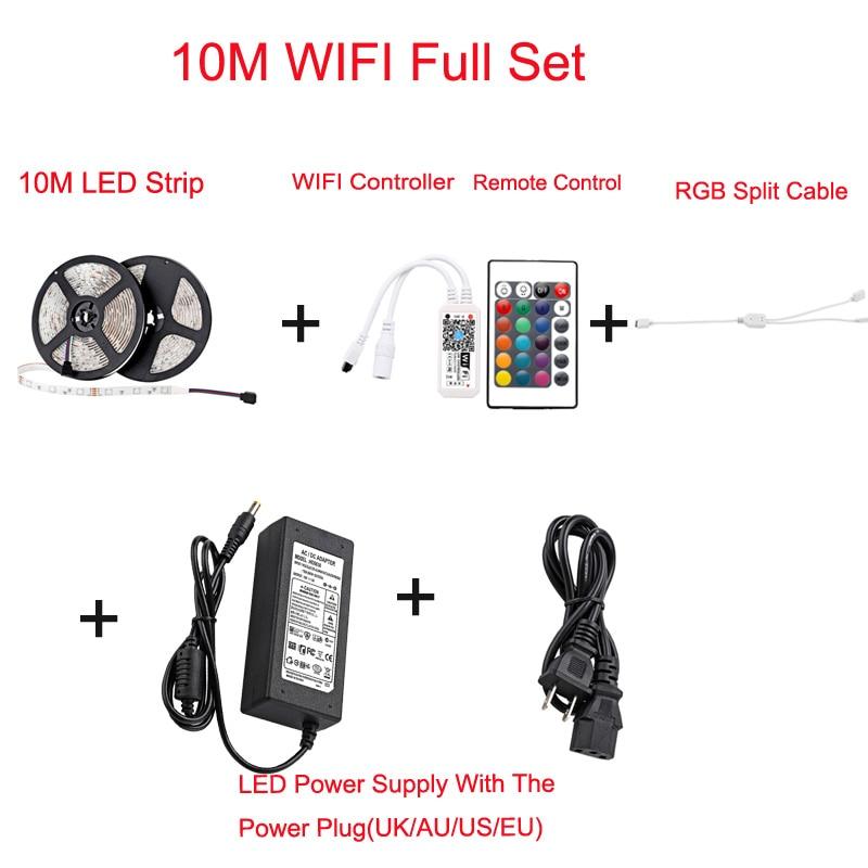 Christmas Lighting 5050 RGB Smart LED Strip WIFI DC 12V LED Rope Tape Ribbon Alexa For Holiday Birthday Party Decoration (28)