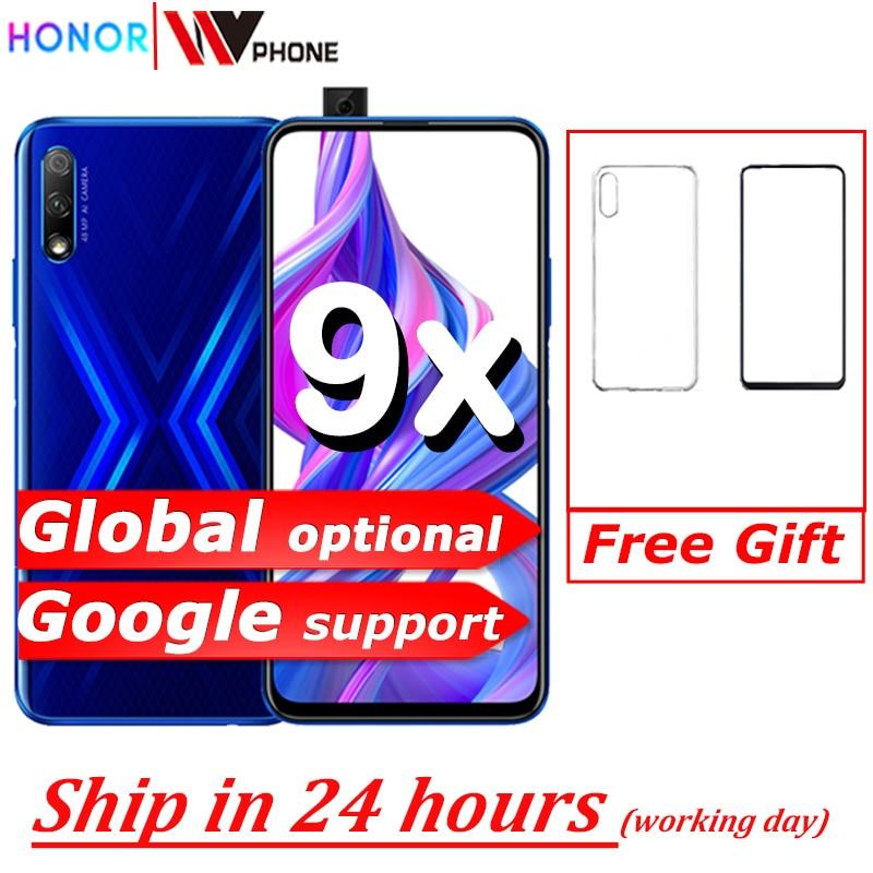 Honor 9x Smart Phone 6.59 Inch Lifting Full Screen 48MP Dual Cameras 4000mAh GPU Turbo Mobile Phone