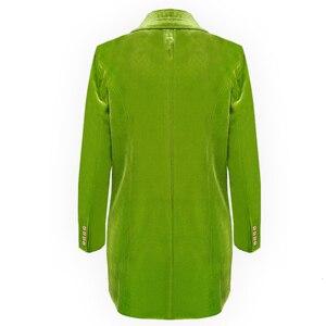 Image 3 - CHICEVER Elegant Womens Blazer Notched Long Sleeve Double Breasted Pocket Large Size Female Suits Autumn Fashion New 2020
