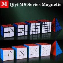 Qiyi MS serisi manyetik 2x2x2 3x3x3 sihirli küp 4x4x4 5x5x5 hız küp 2x2 3x3 piramit küp 4x4 cubo magico 5x5 bulmaca küp
