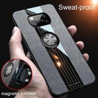 Für Poco X3 Fall Heavy Duty Rüstung Fall Für Xiaomi Poco X3 NFC F2 PRO Redmi Hinweis 9 PRO MAX 5 8 7 auto Magnetischer Halter Ring Abdeckung