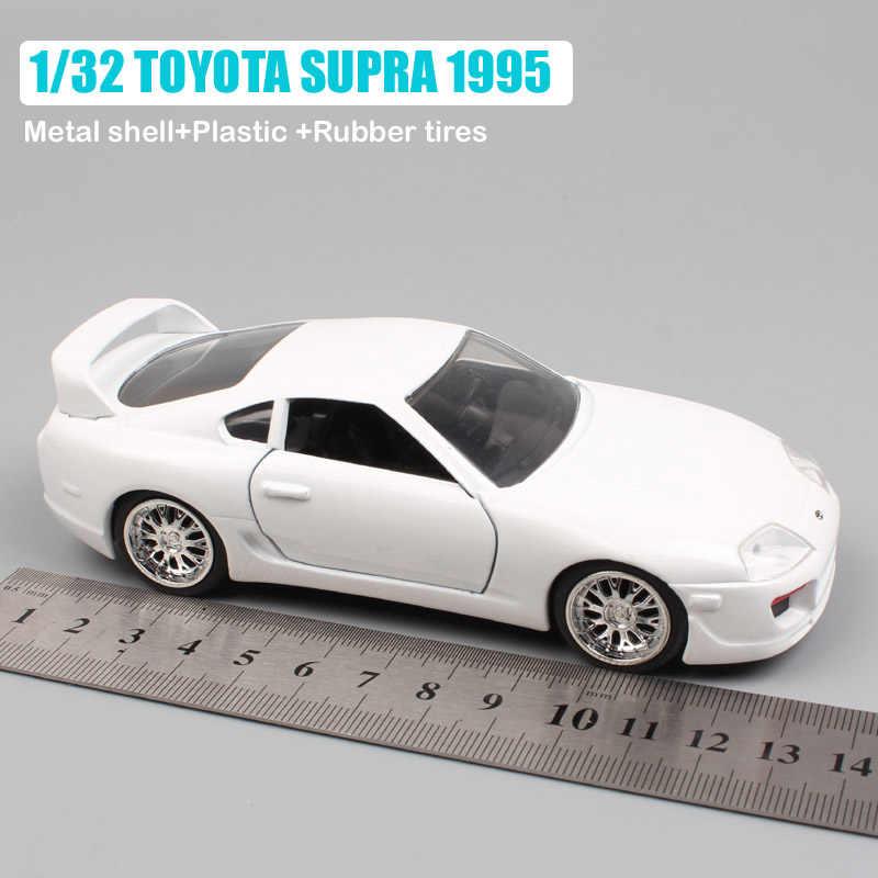 Coches de juguete, coches de carreras, pasatiempo de colección, 1/32 escalas, Jada TOYOTA SUPRA 1995 F7 diver Brian's metal, vehículos de juguete
