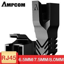 AMPCOM – câble Ethernet pour bottes, câble de réseau, anti-traction, connecteur RJ45, couvre-prise 6.5/7.5/8.0mm pour CAT8 CAT7 CAT6A CAT6 CAT5E
