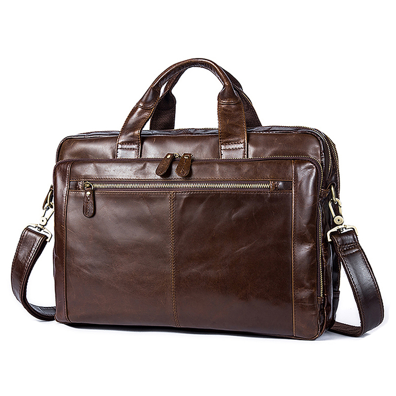 Luufan Men Genuine Leather Shoulder Bags Man Business Male Briefcases Bag For Laptop Documents Handbags Messenger Bag