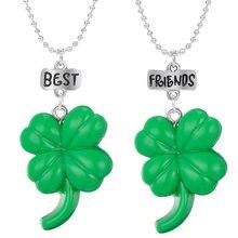 Новинка зеленый Счастливый клевер четырехлистный цветок подвески