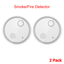 CPVan ES63-A5 2pcs/Lot Wireless Smoke Alarm Fire Sensor Protection EN14604 Listed Smoke Detector CE Certified Loud Alarm Volume