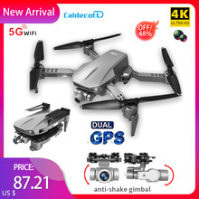 L106Pro GPS Drone 5G Wifi Fpv 4K HD Dual Camera 2-axis Gimbal Aerial Photography Foldable Quadcopter RC Distance 1200M Gifts