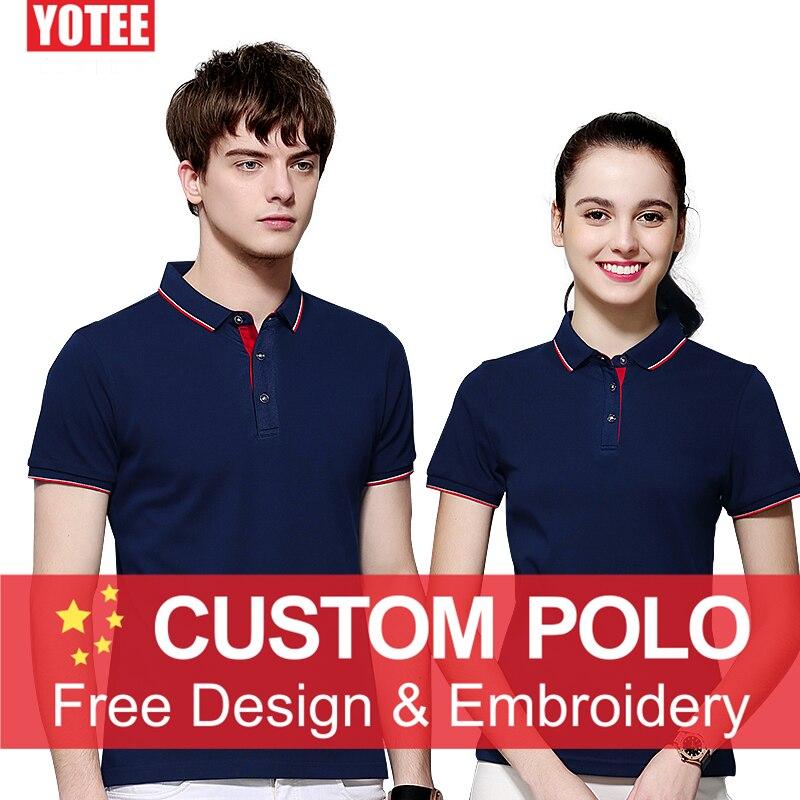 YOTEE 2019 Custom Uniform Company Group Team   polo   shirt men Print Photo/Logo Color Short Sleeve   polo   homme Women and Men custom