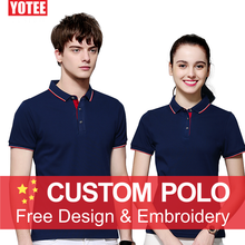 YOTEE 2019 Custom Uniform Company Group Team polo shirt men Print Photo/Logo Color Short Sleeve homme Women and Men custom