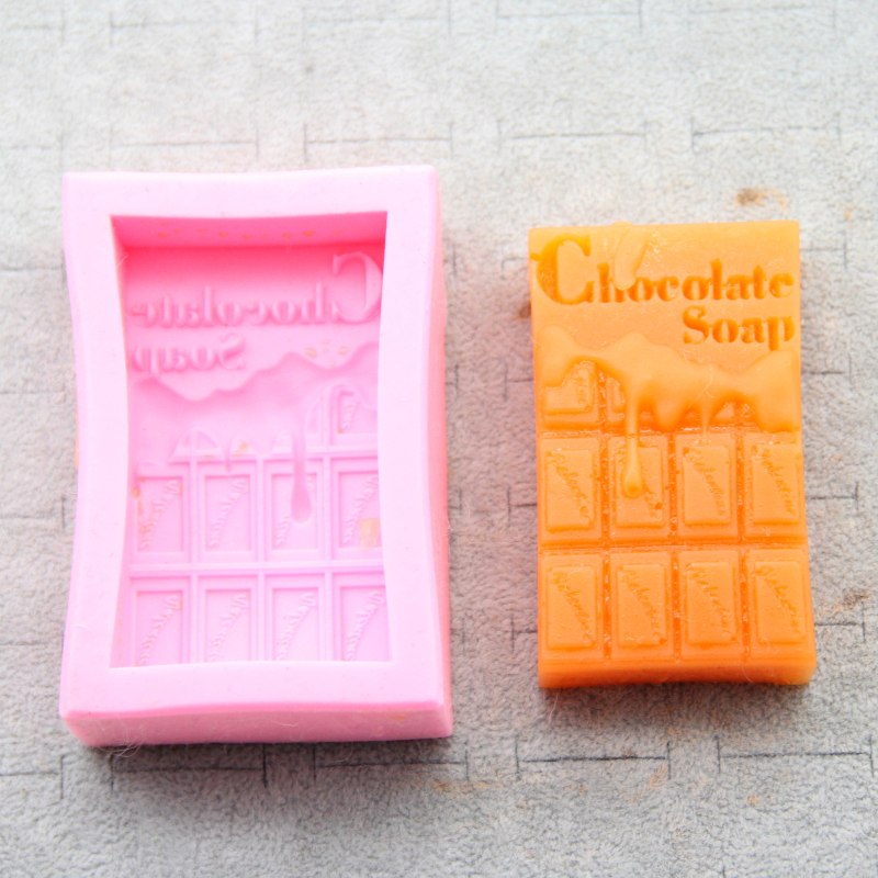 DIY Chocolate Soap Mould Silicone Soap Making Tools Soaps Mold Crafts Cake Decorating Molds Handmake Fondant Candy Tool