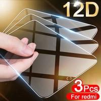 3 pezzi di vetro temperato a copertura totale per Xiaomi Redmi Note 9 8 7 5 6 9S 10 Pro 8T pellicola salvaschermo per Redmi 8A 7A 9 9A 5 Plus vetro