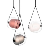 Colorful Hanging Lamp with Glass Shade / 295x265mm LED Lantern Pendant Lamps