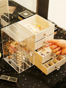 Rack Storage-Box Earrings Necklace Makeup-Organizer Display-Stand Jewerly Drawer-Type